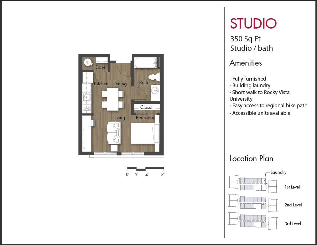 100 studio floor plans 400 sq ft home designs for for Studio apartment house plans